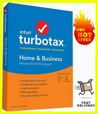 Intuit TurboTax Home and Business 2019 Full Version Windows✅ Instant Delivery 📩