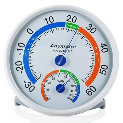Wall-mounted Household Analog Thermometer Hygrometer Meter Humidity Monitor Y0J0