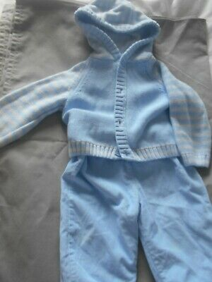 2 Piece Baby Boys Blue Set 3/6 Mths Marks & Spencer