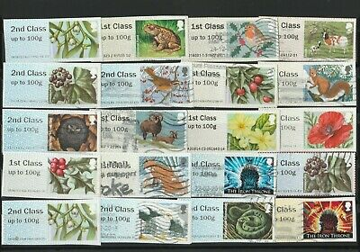 20 used G/B Post and Go Stamps selection as photo