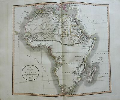 African Continent Sahara Mountains of the Moon Unexplored 1805 Cary folio map