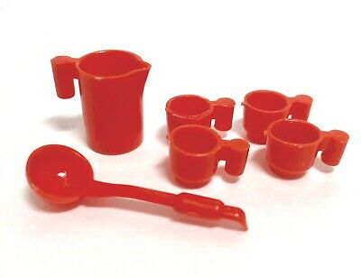 Playmobil Vintage Kitchen Red Pitcher Cups & Ladle