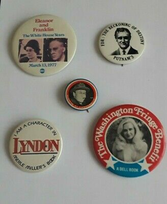 Roosevelt, LBJ Book Related Buttons