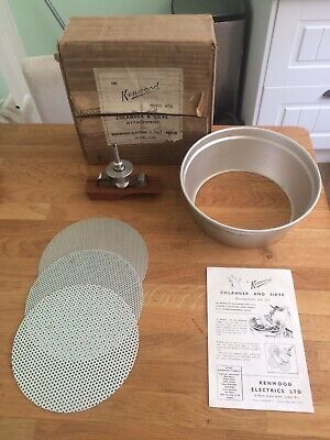 KENWOOD CHEF - Colander & Sieve - A725. (Fits A700a,b,c & d) Ex Condition