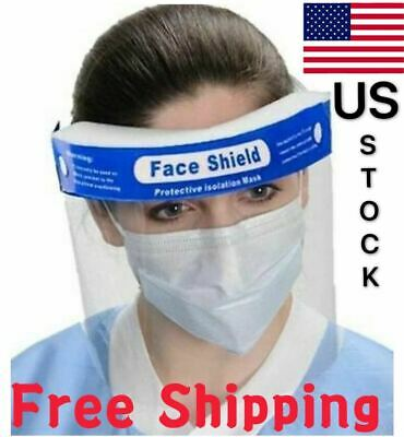 2Pcs Safety Full Face Shield Clear Spash Proof Antifog Protector Work Industry
