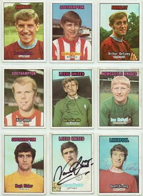 A/&BC Orange Back Football Cards 1970-2nd Series Nr MINT! Pick Cards You Need