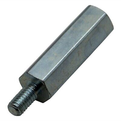 Screwed spacer sleeve Int.thread M6; 90mm Ext.thread M6