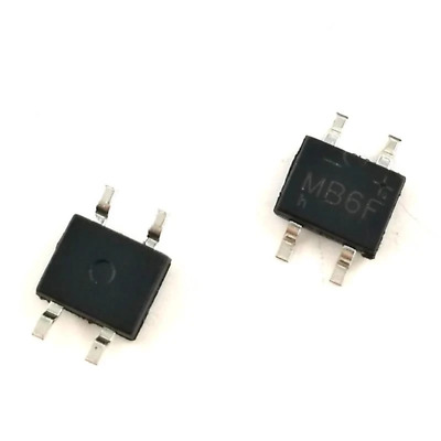 100pcs MB6F 600V 0.5A SOP-4 SMD Rectifier Diode Bridge