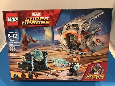 Lego Marvel Super Heroes 76102 Thor/'s Weapon Quest 223pcs Sealed 2018 Avengers