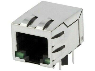 SI-16001-F Socket RJ45 PIN8 shielded with isolation transformer THT BEL FUSE