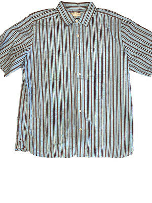 Territory Ahead Mens Cotton Gingham Plaid Button Up Short Sleeve Shirt