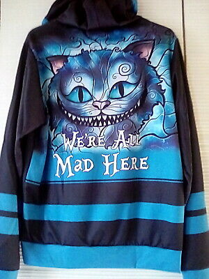 Cheshire Cat Alice In Wonderland We Are All Mad Here Jumper Sweater Top AA50