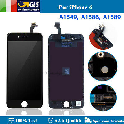 Display Schermo Per Apple Iphone 6 Nero Touch Screen Frame Lcd Tianma Ricambio