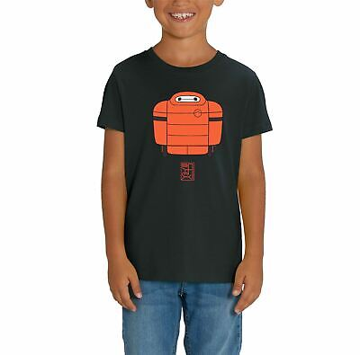 BNWT BAYMAX BIG HERO 6 ROBOT WORD CLOUD HAMADAT-SHIRT 3-15 YEARS