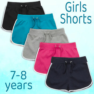 NEW Girls Kids Casual Summer Hot pants  Holiday Shorts Jersey Tie 7-13 years