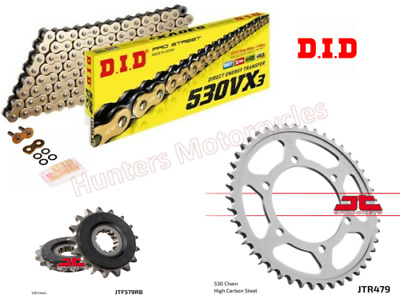 DID Gold X-Ring Chain /& JT Quiet Sprocket Kit Set 99 to 02 Yamaha YZF-R6