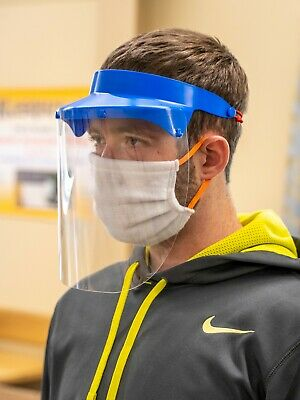 3 Medical Face Shields Lightweight Reusable PPE Brand New. Pack of 3.