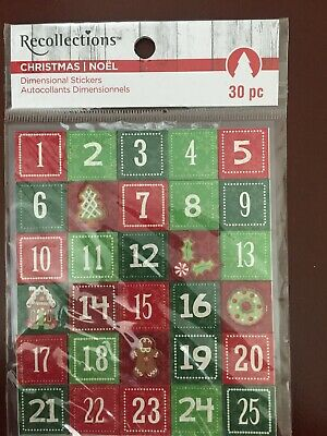 Recollections CHRISTMAS Chipboard Stickers 25pc New