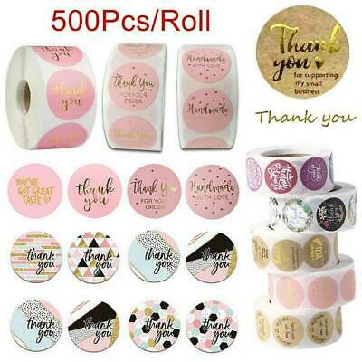 x100 Thank You Stickers Pink Purple Brown Gold Purchase Small Business Labels