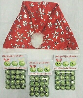 Noël Chocolat Brussel Sprouts Tab © Eve Case Stocking Filler Cadeau Fantaisie