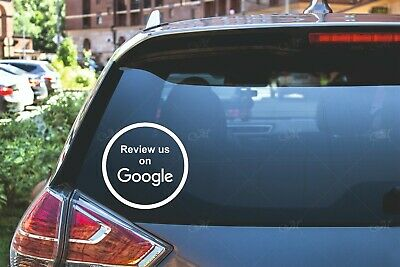 Google Review us on Google Car Van Window Shop Signs Vinyl Sticker BUY2GET1FREE