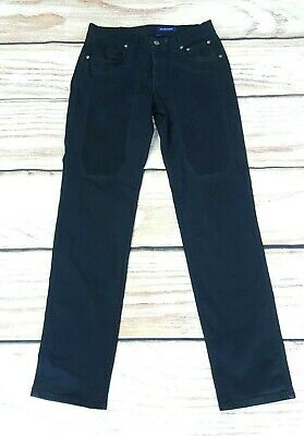 Jeckerson Black Slim Fit Jeans Tretch Patches W33 L29 Made Italy Pants Trousers