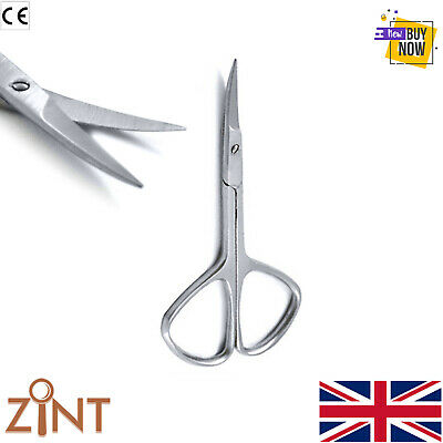 Super Sharp Curved Edge Cuticle Nail Scissors Arrow Point Silver Stainless Steel