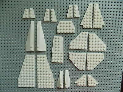 Lego lot of 22 Black Wings Wedge Space Star Ship Airplane Parts a