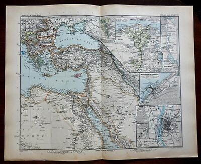 East Africa Egypt Nubia Alexandra Cairo Nile River 1891 Stieler detailed map