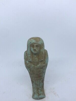 Ancient Egyptian glazed faience ushabti shabti