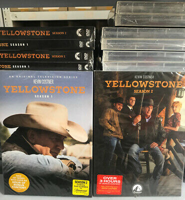 Yellowstone : The Complete Series Season 1 - 2 (DVD, 8-Disc Set) New & Sealed