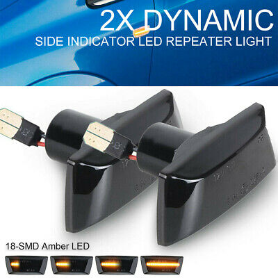 Dynamic Side Indicator LED Repeater Light Fit For Adam Astra H GTC VXR Corsa D