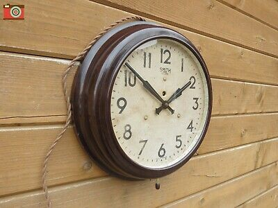 VINTAGE SMITH SECTRIC WALL CLOCK. BAKELITE CASE. Restored. Lovely Condition