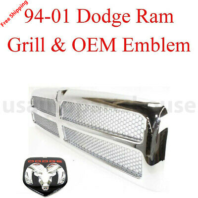 Grille Assembly X595FZ for Ram 2500 1500 3500 2001 1997 1999 1998 1996 2000 1995