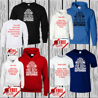 The Best Are Born In September Mens T Shirt Hoody Sweat Kids Birthday Free Gift