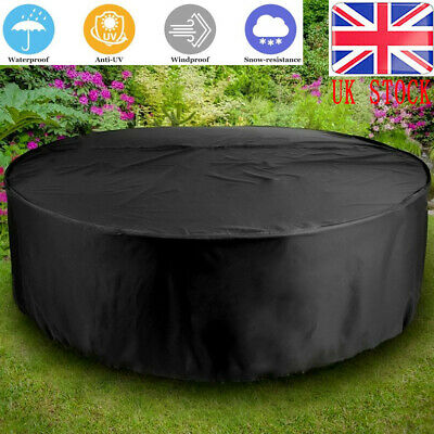 Large Waterproof Outdoor Garden Patio Round Table Chair Set Furniture Covers uk
