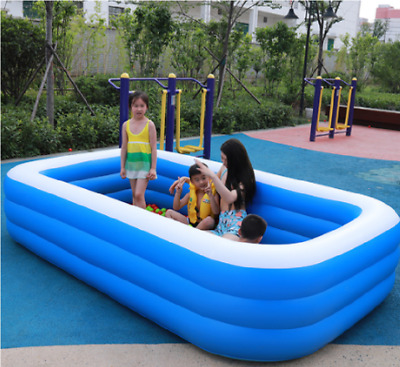 290 CM Large Family Swimming Pool Outdoor Garden Inflatable Adults Kids Paddling