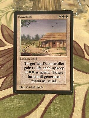 Magic the Gathering MTG Farmstead Revised Edition   LP
