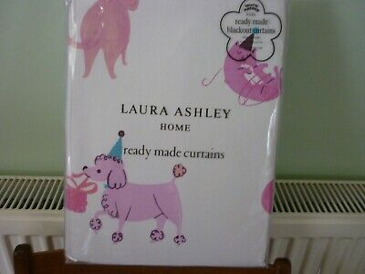 Laura Ashley Kids Pets Party Pink Blackout Curtains W 53 L 54 New Unopened 47 95 Picclick Uk