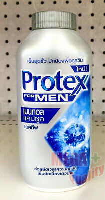 140g Protex FOR MEN BODY Menthol Capsule ACTIVE Cooling Powder Cool Prickly Heat