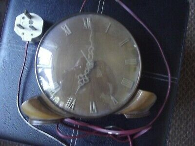 Smiths Sectric electric mantlepiece wooden body/bakelite clock case.Art deco.