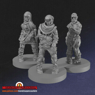 Warhammer,D/&D /& RPG Goblin Fighters x3 Compatible With Mordheim,AoS