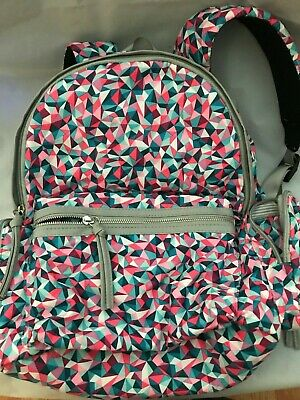 Faux Leather Trim Cargo Backpack Candie/'s Girl/'s Canvas Assorted Color