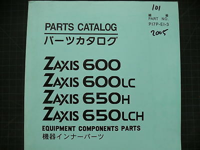Hitachi 600 650 Excavator COMPONENT Parts Book Manual ZAXIS TRACKHOE CRAWLER LC