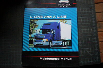STERLING FREIGHTLINER A/L-LINE Truck Maintenance Manual book owner guide heavy