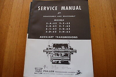 EATON FULLER TRANSMISSION Disassembly Assembly Service Manual repair truck book