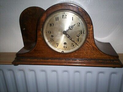 A Fine tambour style mantle clock with Westminster chime