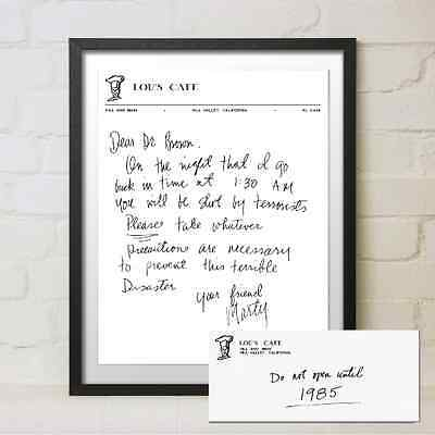 Back to the Future Replica Movie Prop Marty McFly Letter to Doc Brown Flux Gift