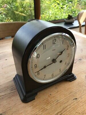 Antique Smiths Enfield Bakelite dome topped cased mantle clock 🕰