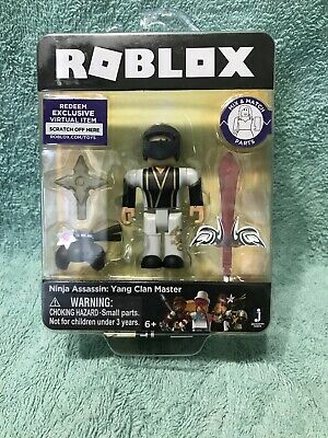 Roblox Ninja Assassin Yin Clan Master Single Figure Core Pack With Exclusive Virtual Item Code Newegg Com Roblox Ninja Assassin Yang Clan Master Figure Exclusive Virtual Item Code New 12 98 Picclick